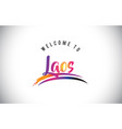 laos welcome to message in purple vibrant modern vector image