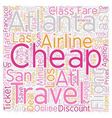 Last minute cheap air ticket text background vector image vector image