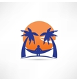 man among the palms icon vector image vector image