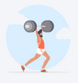 man lifting weights over head vector image