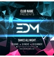 Modern EDM Music Party Template Dance Party Flyer vector image vector image