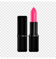 pink lipstick mockup realistic style vector image vector image