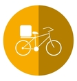 pizza food delivery bicycle shadow vector image vector image