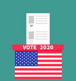 president election day vote 2020 american flag vector image vector image