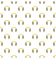 rap headset pattern seamless vector image vector image