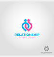 relation ship - lovely couple logo template vector image