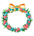 retro wreath vector image vector image