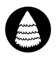 round icon christmas tree vector image vector image