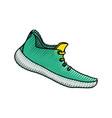 running shoe footwear vector image vector image