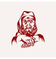 Santa Claus gangster vector image
