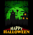scary halloween background green vector image vector image