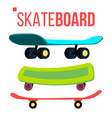 scateboard set skate park extreme summer vector image