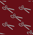 scissors seamless pattern vector image vector image