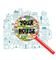 Searching of the house concept vector image vector image