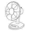 set of fan vector image vector image