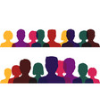 silhouettes people multicolored profile men vector image