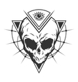 skull is an alien and all-seeing eye vector image