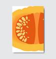 slice fresh cut pumpkin silhouette on white vector image vector image
