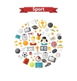 sports icons in circle vector image