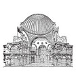 St sophia cross section vintage engraving vector image