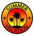 Summer vacation stamp vector image vector image
