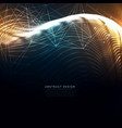 technology wavy background made with particles vector image vector image
