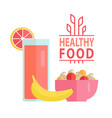vegetables and fruit healthy food diet vector image