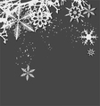 Winter background snowflakes hoarfrost vector image vector image