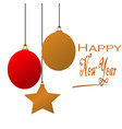 happy new year typographic and element design vector image