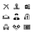 Set of AIRPORT icons - airplane airport passport vector image