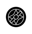 travel compass icon black vector image