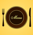 Menu for Lunch and Dinner vector image
