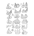 Set of ships sketch for your design vector image