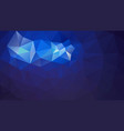 abstract irregular polygonal background dark blue vector image vector image