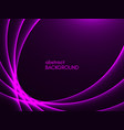 abstract purple background violet lines on dark vector image vector image