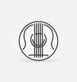 acoustic guitar concept round outline icon vector image