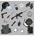 African-American Special Police Officer vector image vector image