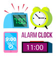 alarm clock set time early wake up vector image