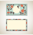 Asian floral business visit card template