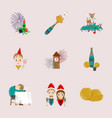 assembly flat shading style icon christmas vector image