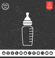 baby feeding bottle icon vector image