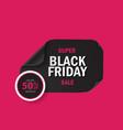 black friday super sale vector image vector image