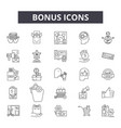 bonus line icons signs set outline vector image vector image