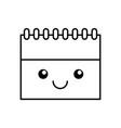 calendar reminder kawaii character vector image vector image