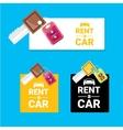 car rent concept flat banner vector image vector image