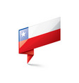 chile flag on a white vector image vector image