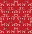 christmas reindeer pattern vector image vector image