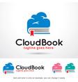cloud book logo template vector image