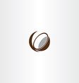 coconut icon symbol vector image vector image