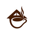 coffee shop symbol vector image